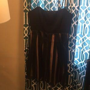 Black and Nude stripe Cocktail dress- 16W